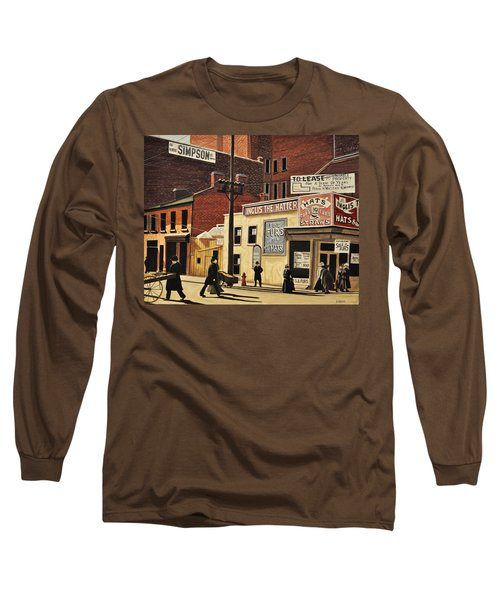 Long Sleeve T-Shirt featuring the painting Yonge And Richmond Streets 1899 by Kenneth M  Kirsch
