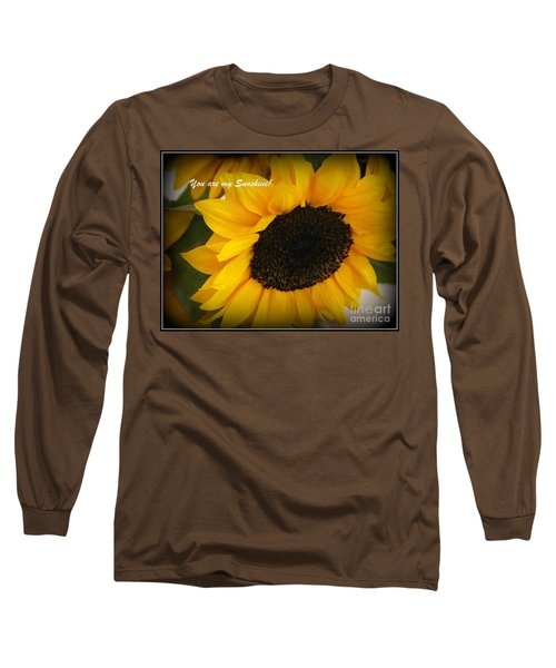 You Are My Sunshine - Greeting Card Long Sleeve T-Shirt by Dora Sofia Caputo Photographic Art and Design