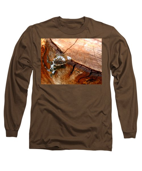 Long Sleeve T-Shirt featuring the photograph You Can See Me? by Greg Allore
