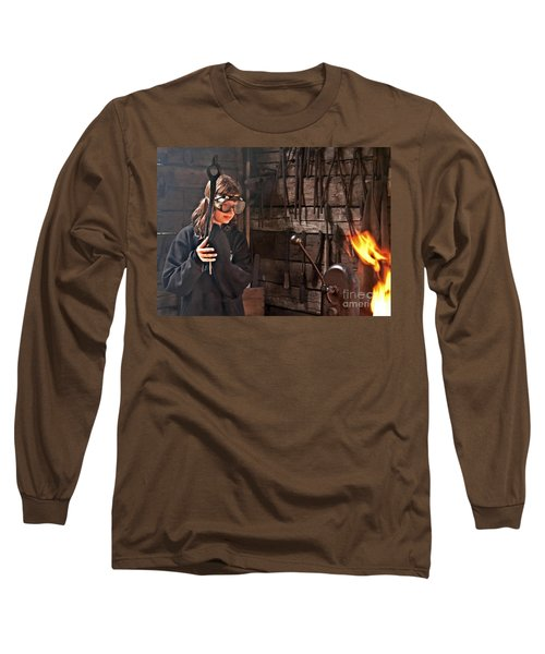Young Blacksmith Girl Art Prints Long Sleeve T-Shirt