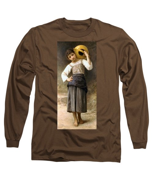 Young Girl Going To The Fountain Long Sleeve T-Shirt