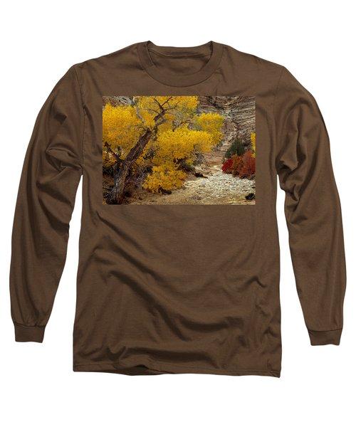 Zion National Park Autumn Long Sleeve T-Shirt by Leland D Howard