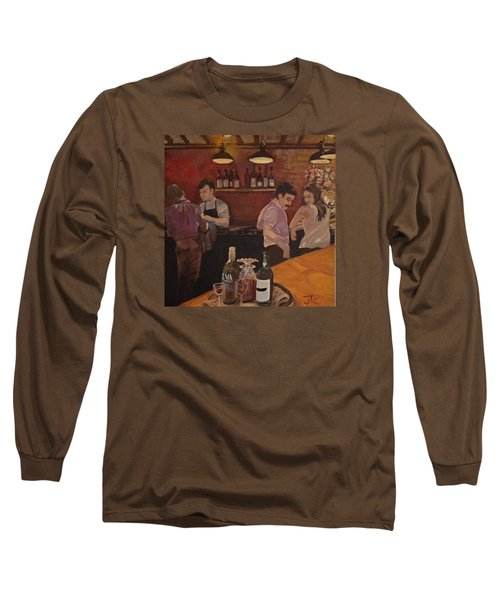Cafe Long Sleeve T-Shirt by Julie Todd-Cundiff