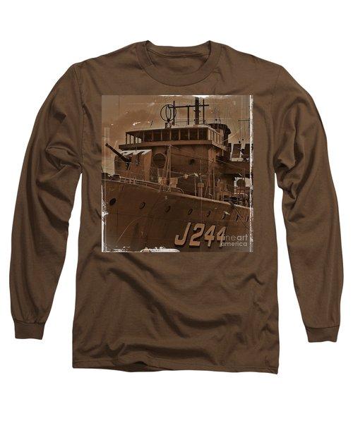 Long Sleeve T-Shirt featuring the photograph Hmas Castlemaine 4 by Blair Stuart