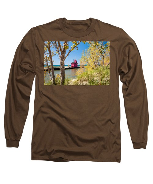 Holland Mi Lighthouse Long Sleeve T-Shirt
