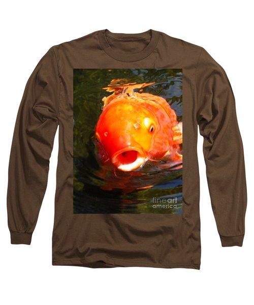 Koi Fish Long Sleeve T-Shirt by Angela Murray