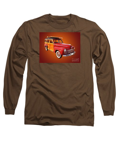 1947 Woody Long Sleeve T-Shirt by Jim Carrell