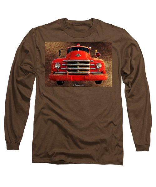 1955 Diamond T Grille - The Cadillac Of Trucks Long Sleeve T-Shirt