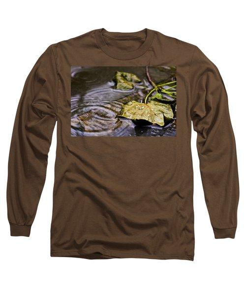 A Leaf In The Rain Long Sleeve T-Shirt