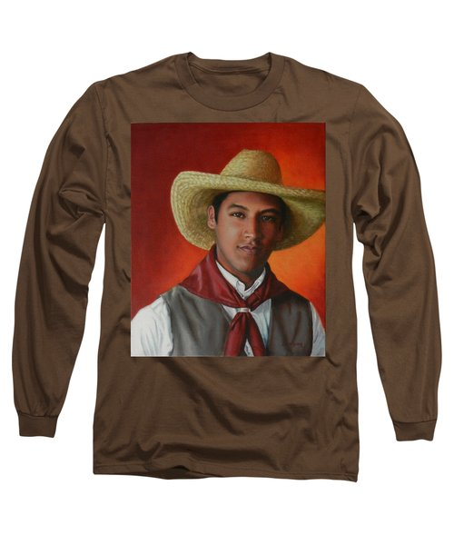 A Smile From The Andes, Peru Impression Long Sleeve T-Shirt