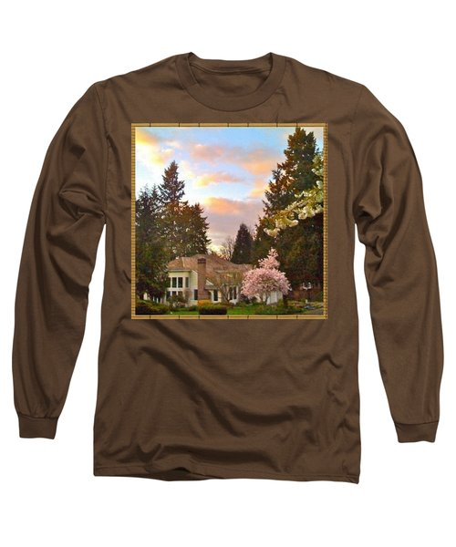A Spring Evening - Lake Oswego Or Long Sleeve T-Shirt