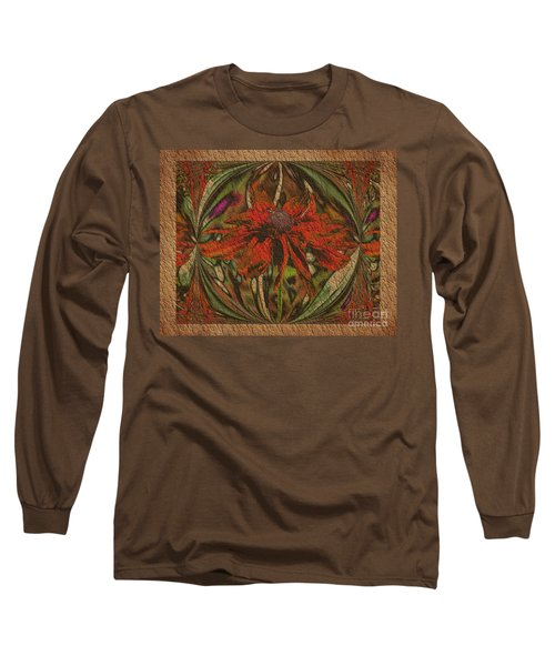 Abstract Flower Long Sleeve T-Shirt