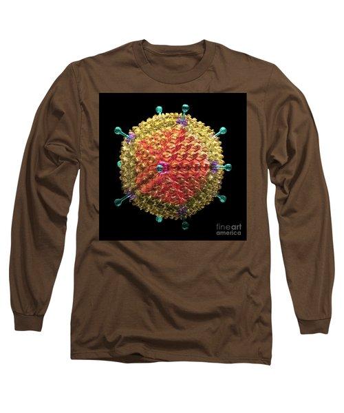 Adenovirus 36 Long Sleeve T-Shirt by Russell Kightley