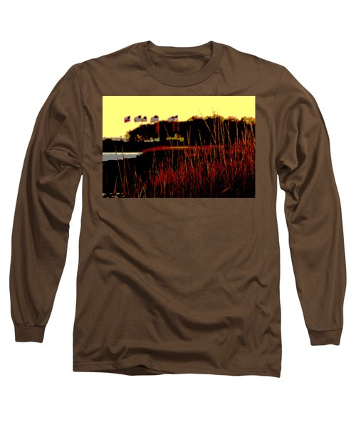 Long Sleeve T-Shirt featuring the photograph American Flags2 by Zawhaus Photography