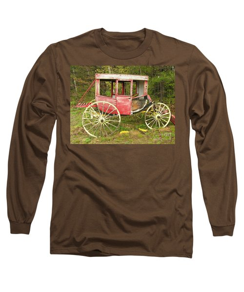 Long Sleeve T-Shirt featuring the photograph Old Horse Drawn Carriage by Sherman Perry