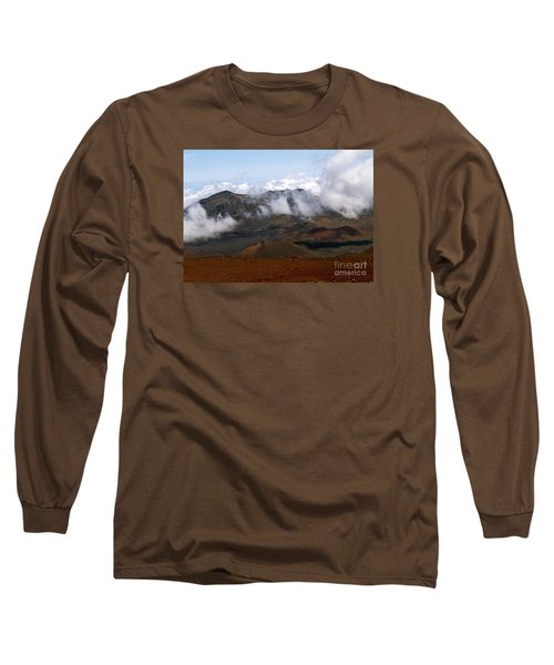 At The Rim Of The Crater Long Sleeve T-Shirt by Patricia Griffin Brett
