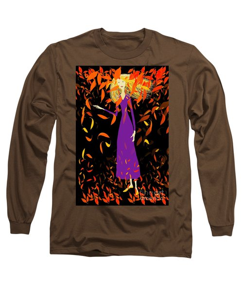 Long Sleeve T-Shirt featuring the digital art Autumn Spirit by Barbara Moignard