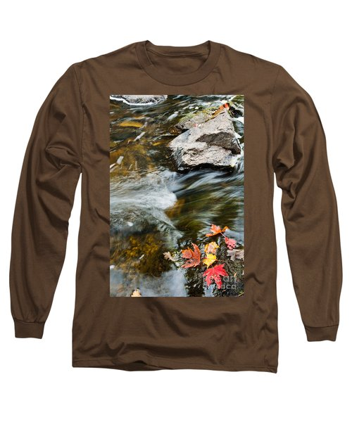 Long Sleeve T-Shirt featuring the photograph Autumn Stream by Cheryl Baxter