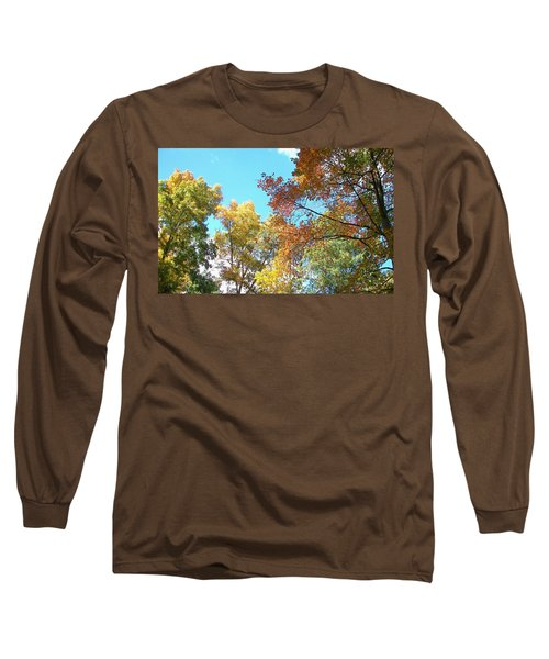 Long Sleeve T-Shirt featuring the photograph Autumn's Vibrant Image by Pamela Hyde Wilson