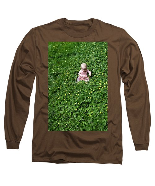 Baby In A Field Of Flowers Long Sleeve T-Shirt