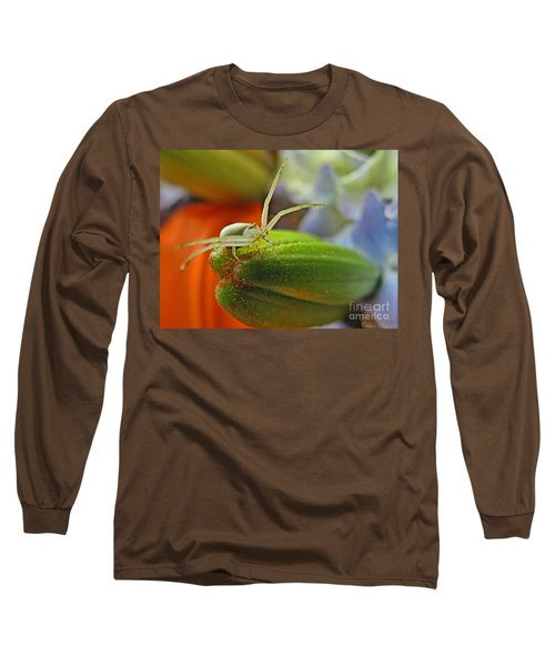 Long Sleeve T-Shirt featuring the photograph Back Off by Debbie Portwood
