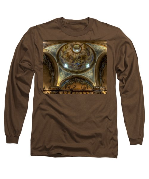 Baroque Church In Savoire France 5 Long Sleeve T-Shirt by Clare Bambers