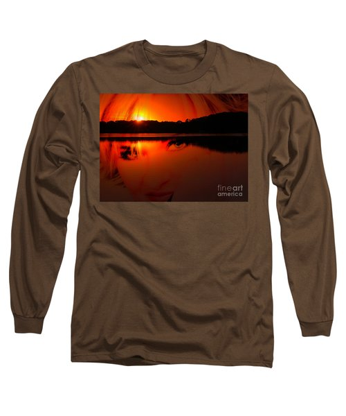 Beauty Looks Back Long Sleeve T-Shirt by Clayton Bruster