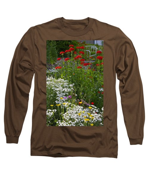 Bed Of Flowers Long Sleeve T-Shirt by Johanna Bruwer