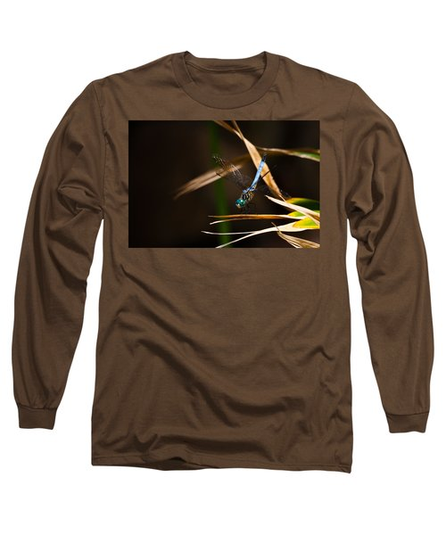 Blue Dasher Dragonfly Long Sleeve T-Shirt