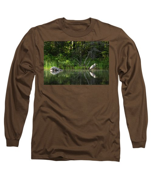 Blue Heron Long Pond Wmnf Long Sleeve T-Shirt