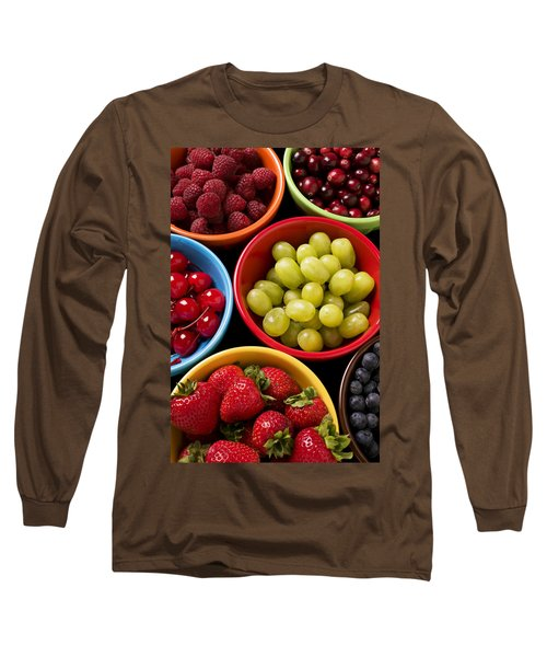 Bowls Of Fruit Long Sleeve T-Shirt by Garry Gay