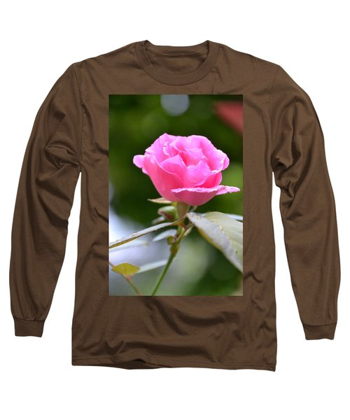 Bubblegum Rose Long Sleeve T-Shirt by Bonnie Myszka