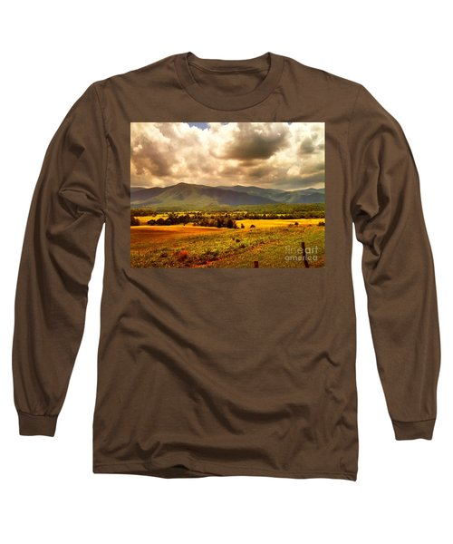Long Sleeve T-Shirt featuring the photograph Cades Cove by Janice Spivey