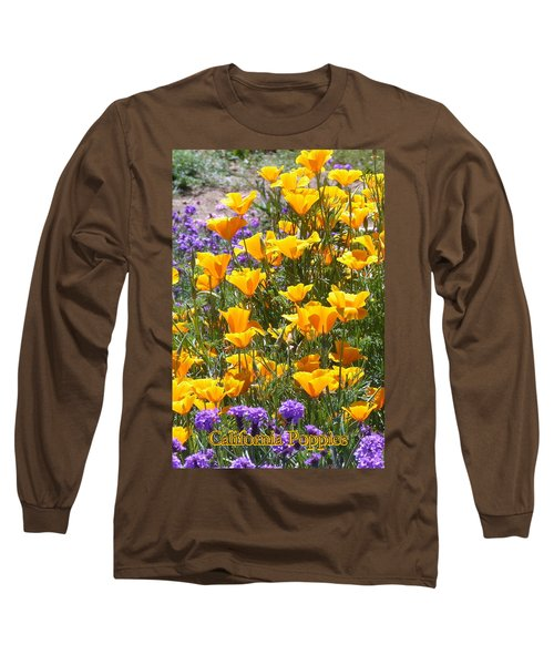 California Poppies Long Sleeve T-Shirt by Carla Parris