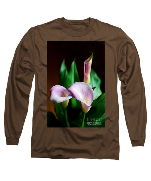 Long Sleeve T-Shirt featuring the photograph Calla Lily by Barbara McMahon