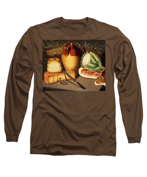 Cat Mouse Bacon And Cheese Long Sleeve T-Shirt by Anonymous
