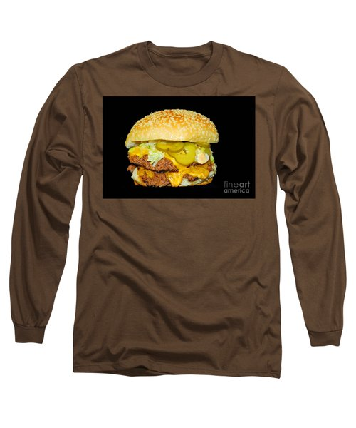 Long Sleeve T-Shirt featuring the photograph Cheeseburger by Cindy Manero