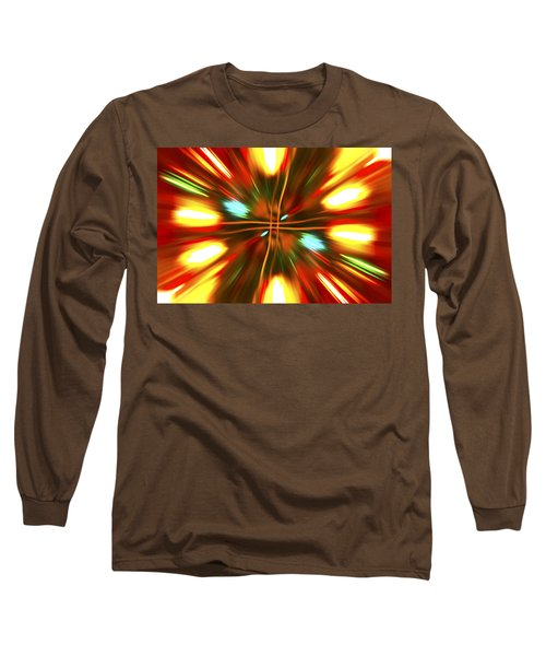 Long Sleeve T-Shirt featuring the photograph Christmas Light Abstract by Steve Purnell