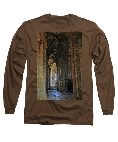Long Sleeve T-Shirt featuring the photograph Church Passageway Provence France by Dave Mills