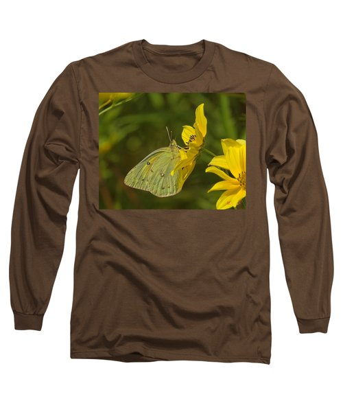Clouded Sulphur Butterfly Din099 Long Sleeve T-Shirt