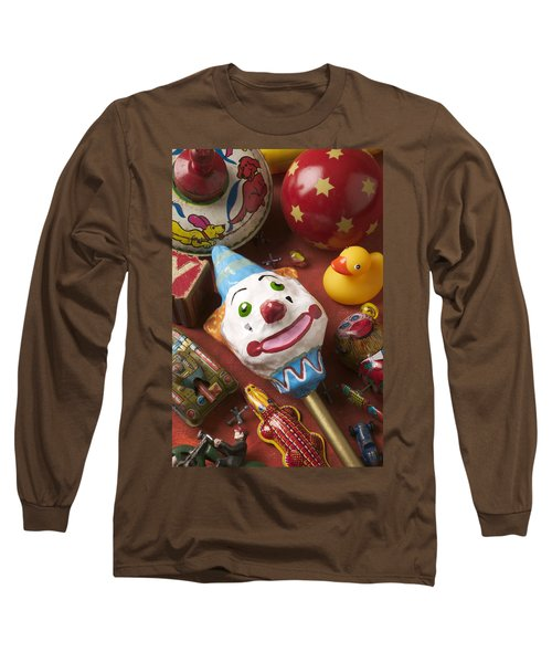 Clown Rattle And Old Toys Long Sleeve T-Shirt