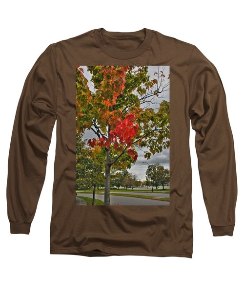 Long Sleeve T-Shirt featuring the photograph Cold Autumn Breeze  by Michael Frank Jr