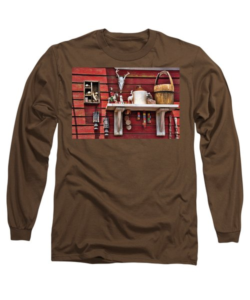 Long Sleeve T-Shirt featuring the photograph Collection On The Barn by Jan Amiss Photography