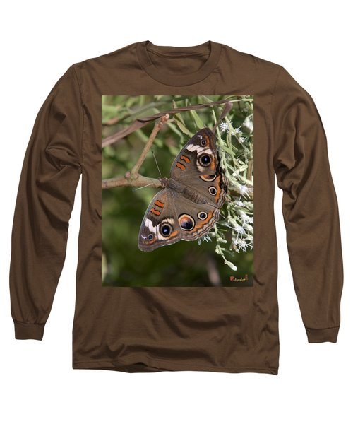 Common Buckeye Butterfly Din182 Long Sleeve T-Shirt