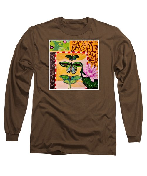 Oil Collage Long Sleeve T-Shirt