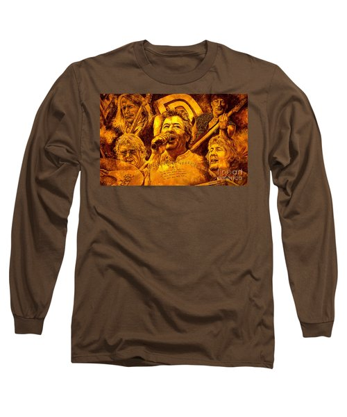 Long Sleeve T-Shirt featuring the painting Deep Purple In Rock by Igor Postash