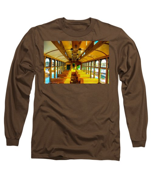 Long Sleeve T-Shirt featuring the photograph Dining Car by Shannon Harrington