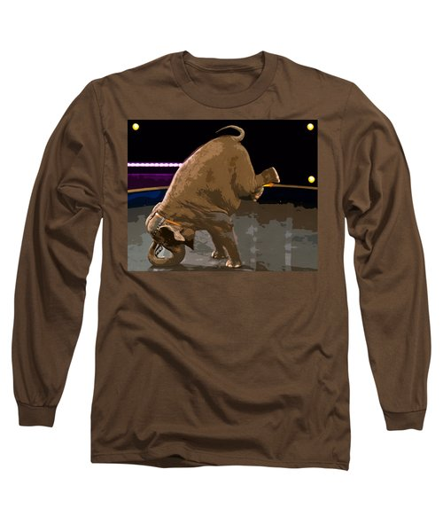 Long Sleeve T-Shirt featuring the photograph Elephant Perfomance At Circus by Susan Leggett