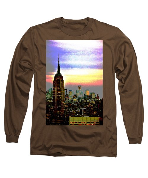 Long Sleeve T-Shirt featuring the photograph Empire State Building4 by Zawhaus Photography