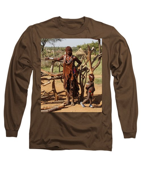 Ethiopia-south Mother And Baby No.2 Detail B Long Sleeve T-Shirt